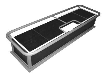 Поилка с электрообогревом ПЭ-3 в комплекте с металлоконструкцией